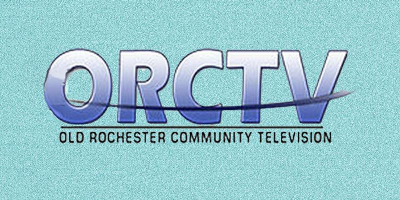 Big purple and white letters that say ORCTV